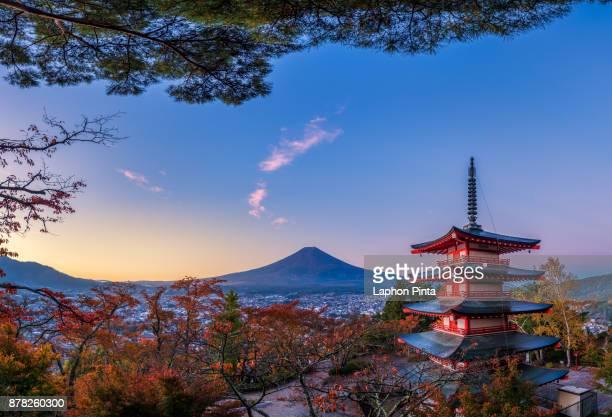 Chureito Pagoda in Autumn