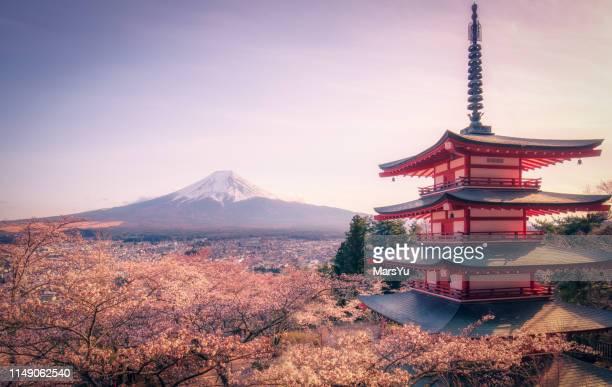 pagode de chureito - templo - fotografias e filmes do acervo