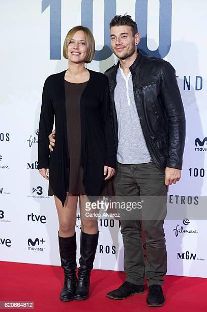 Churi Gonzalez attends '100 Metros' premiere at Capitol cinema on November 2 2016 in Madrid Spain