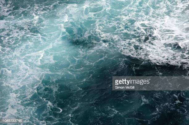 churning seascape in strong winds - ruffled stock pictures, royalty-free photos & images