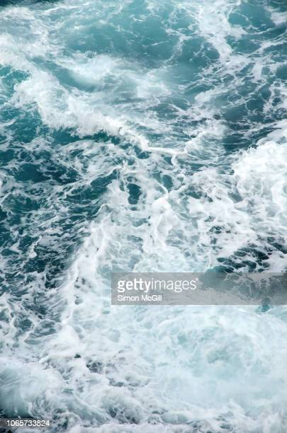 churning seascape in strong winds - seascape stock pictures, royalty-free photos & images