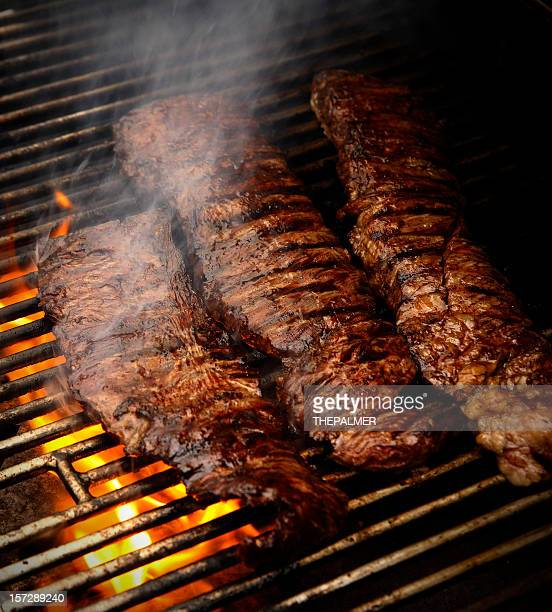 churrasco in the grill - argentina stock pictures, royalty-free photos & images