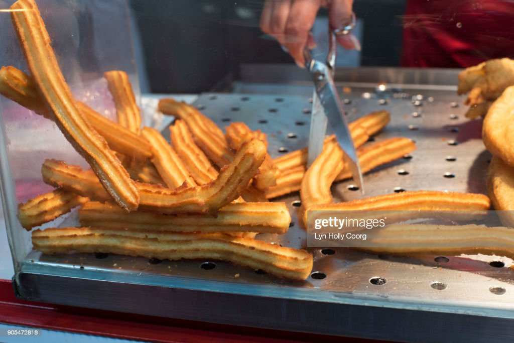 Churros for sale in Lisbon Portugal : Stock Photo