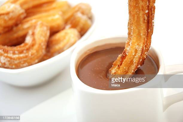 Churros wih de chocolate