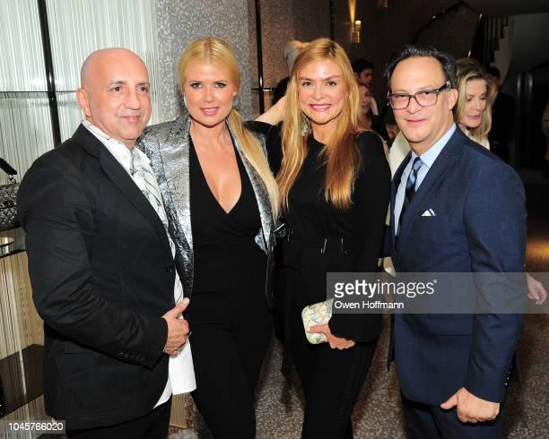 Chus Bures Sissi Fleitas Alexandra Seegers and Ben RodriguezCubenas attends Valentino Kick Off For Casita Maria's Fiesta 2018 at Valentino Boutique...