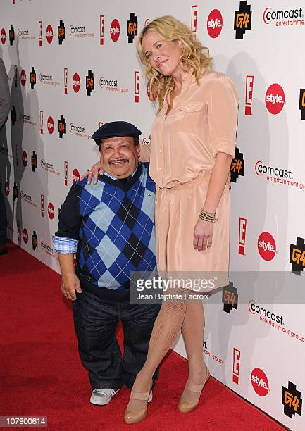 Chuy Bravo and Chelsea Handler attend the Comcast Entertainment Group Television Critics Association Cocktail Reception at The Langham Huntington...