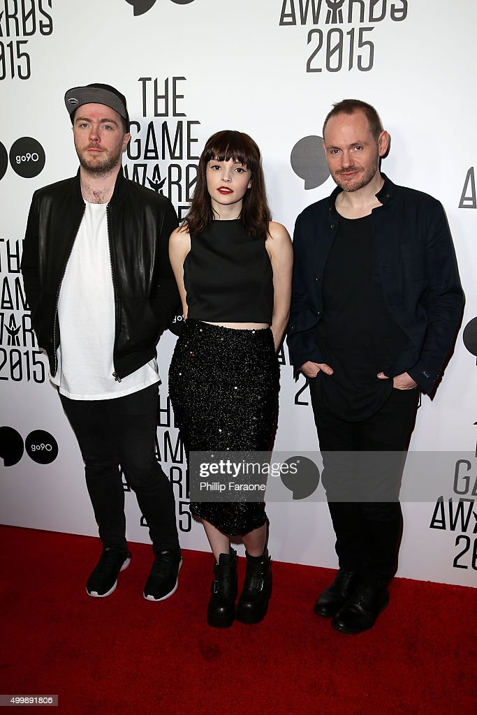 Chvrches attends The Game Awards 2015 at Microsoft Theater on December 3, 2015 in Los Angeles, California.