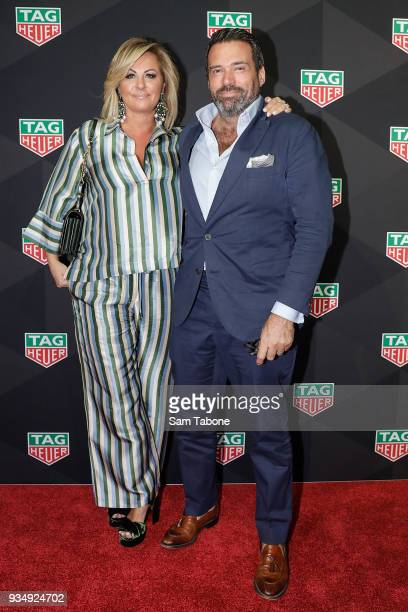 Chyka and Bruce Keebaugh attends the TAG Heuer Grand Prix Party on March 20 2018 in Melbourne Australia