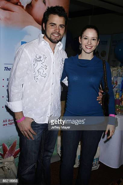 Chyler Leigh and husband Nathan West pose at the Boom Boom Room's Children's Gifting Wonderland at Century Plaza Hotel on January 9 2009 in Los...