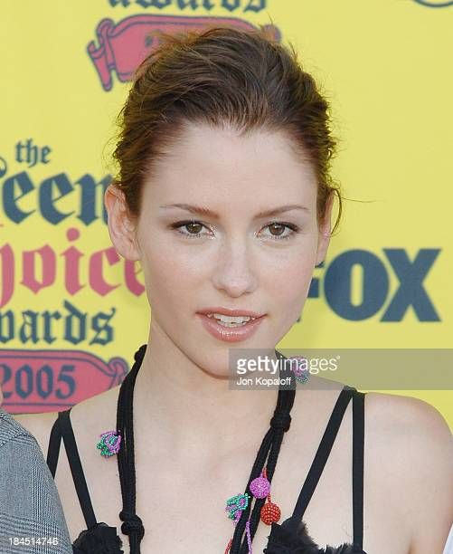 Chyler Leigh during 2005 Teen Choice Awards Arrivals at Gibson Amphitheater in Universal City California United States