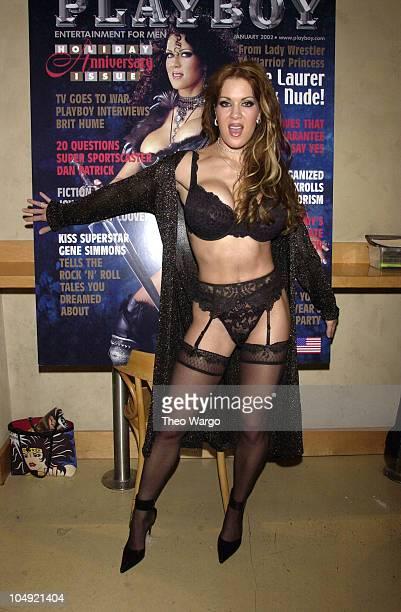 Chyna aka Joanie Laurer during Joanie Laurer aka Chyna promotes her cover of Playboy magazine at Virgin Megastore in New York City New York United...
