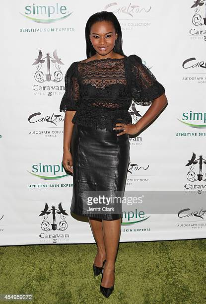 Chyna Layne attends the Simple Skincare & Caravan Stylist Studio Fashion Week Event on September 7, 2014 in New York City.