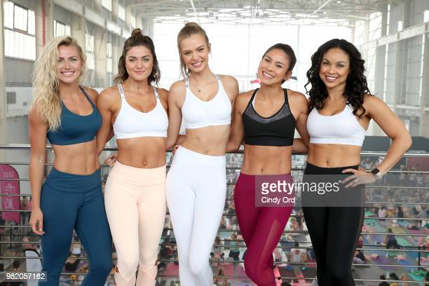 Chyna Rae Tori Simeone Josephine Skriver Stefanie Corgel and Chevy Laurent attend the Studio Tone It Up Live at Duggal Greenhouse on June 23 2018 in...