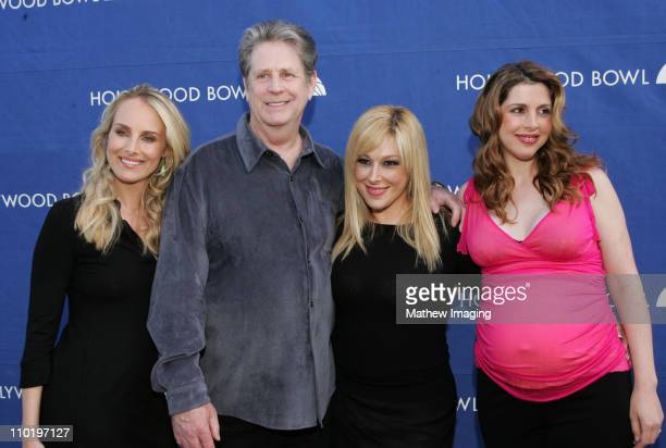Chynna Phillips Brian Wilson Carnie Wilson and Wendy Wilson backstage at The Hollywood Bowl