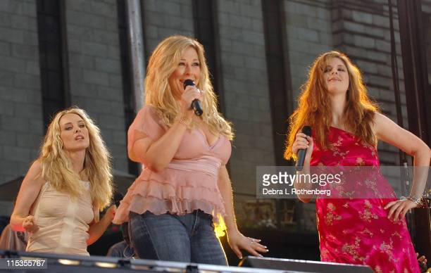 Chynna Phillips Carnie Wilson and Wendy Wilson during Good Morning America 2004 Concert Series Wilson Phillips at Bryant Park in New York City New...
