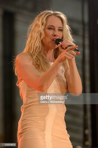 Chynna Phillips during Good Morning America 2004 Concert Series Wilson Phillips at Bryant Park in New York City New York United States