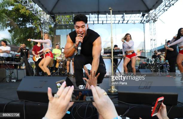 Chyno Miranda performs at I Heart Latino And Tu 949 At The 2018 Calle Ocho Festival on March 11 2018 in Miami Florida