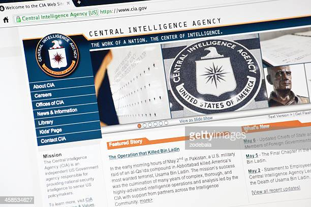 cia.gov web site homepage - central intelligence agency stock pictures, royalty-free photos & images