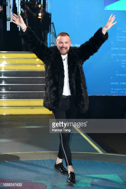 Cian Carrigan enters the Big Brother house at Elstree Studios on September 14 2018 in Borehamwood England