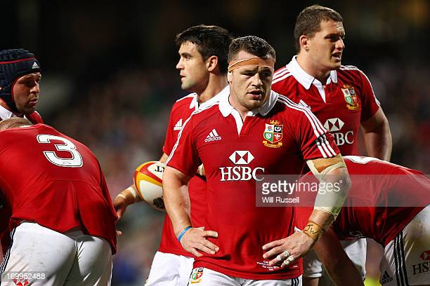 Cian Healy of the British & Irish Lions looks on during the tour match between the Western Force and the British & Irish Lions at Patersons Stadium...