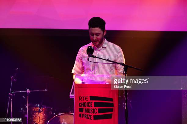 Cian Lawless accepts the RTE Choice Music Prize Album of the year award on Behalf of Lankum at Vicar Street on March 05 2020 in Dublin Dublin