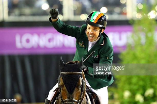 Cian O'Connor Good Luck during Nations Cup Second round of the Equestrian European Championships on August 25 2017 in Gothenburg Sweden