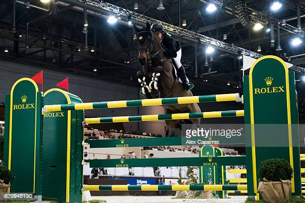 Cian O'Connor of Ireland rides Good Luck during the Rolex Grand Slam of Show Jumping at Palexpo on December 11 2016 in Geneva Switzerland