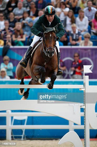 Cian O'Connor of Ireland riding Blue Loyd 12 competes in the Individual Jumping Equestrian on Day 12 of the London 2012 Olympic Games at Greenwich...