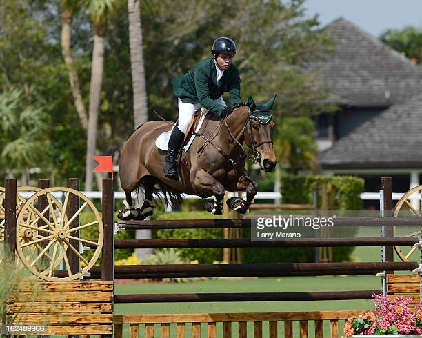 Cian O'Connor participtaes in FTI Consulting Winter Equestrian Festival at Palm Beach International Equestrian Center on February 23 2013 in...