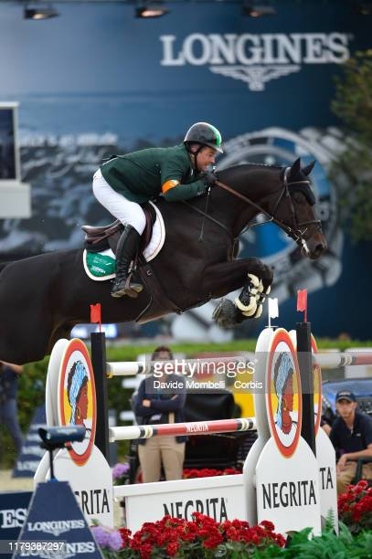 Cian O'Connor riding PSG Final of Ireland during Longines FEI Jumping Nations Cup Final 2019 Competición Final on October 6 2019 in Barcelona Spain