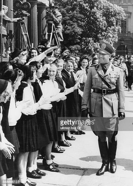 Ciano Galeazzo Politician Italy * the ialian minister of foreign affairs in front of the cenotaph Unter den Linden with members of the italian...