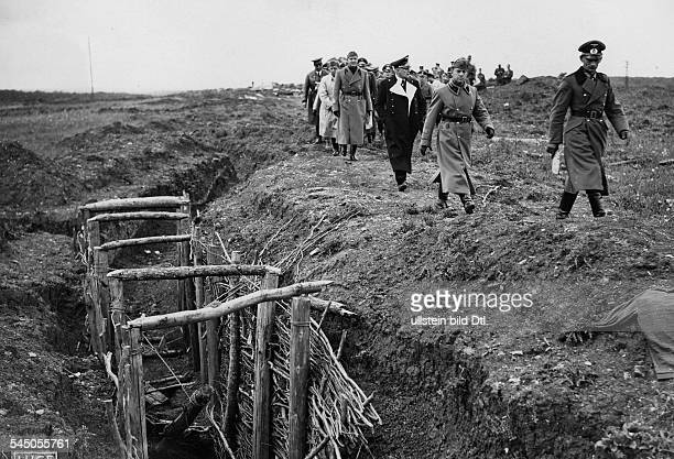 Ciano Galeazzo Politician Italy*the Italian Minister of Foreign Affairs visiting the occupied territories in the West Ciano visiting defence works...