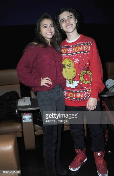 Ciara A Wilson and Hunter Payton attend Hunter Payton And The Shoe Crew Holiday Charity Fundraiser Screening of Illumination's 'The Grinch'...