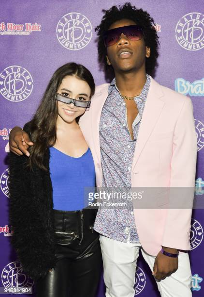 Ciara A Wilson and Jaheem Toombs attend Hayden Summerall's 13th Birthday Bash at Bardot on April 15 2018 in Hollywood California