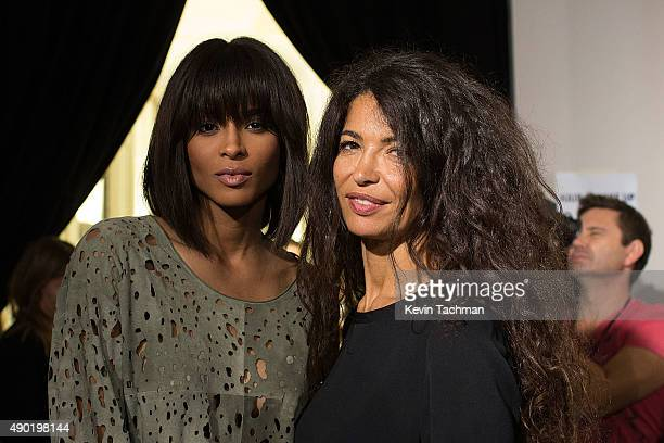 Ciara and Affef attends amfAR Milano 2015 at La Permanente on September 26 2015 in Milan Italy