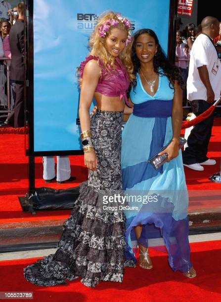 Ciara and Ananda Lewis during 2005 BET Awards Arrivals at Kodak Theatre in Hollywood California United States