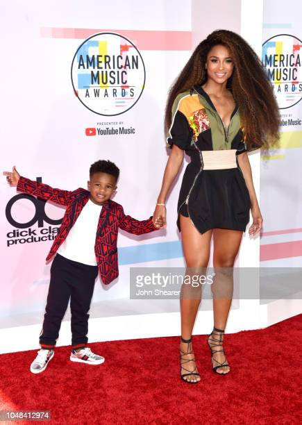 Ciara and Future Zahir Wilburn attend the 2018 American Music Awards at Microsoft Theater on October 9 2018 in Los Angeles California