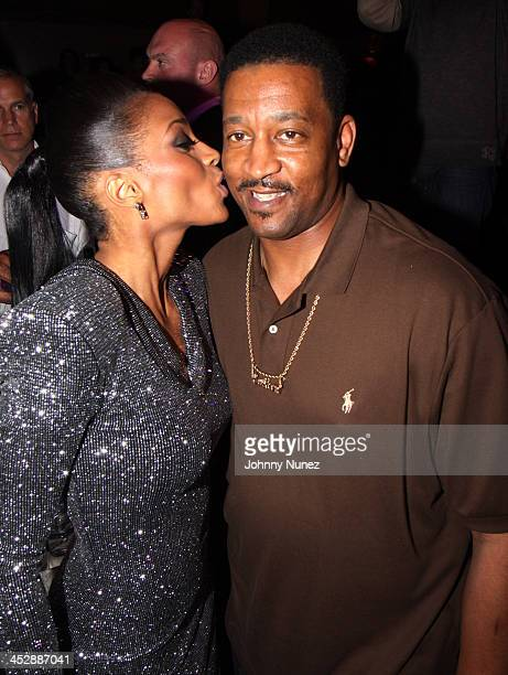 Ciara and her father attend Ciara's Fantasy Ride album release party at M2 Ultra Lounge on May 7 2009 in New York City