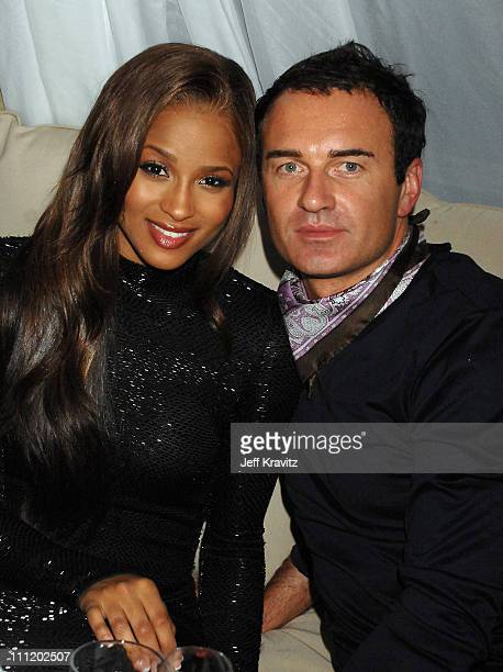 Ciara and Julian McMahon attend the 2007 World Music Awards PreParty held at Club Zebra on November 3 2007 in Monte Carlo Monaco
