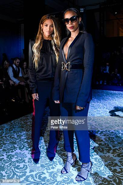 Ciara and Kelly Rowland attend the Haider Ackermann show as part of the Paris Fashion Week Womenswear Fall/Winter 2016/2017 on March 5 2016 in Paris...