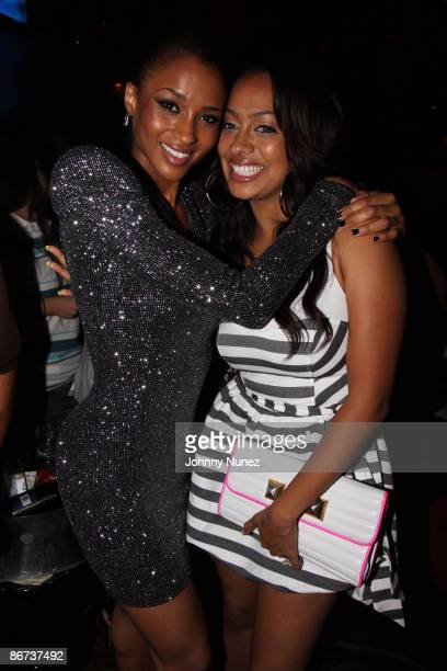 Ciara and La La Vasquez attend Ciara's Fantasy Ride album release party at M2 Ultra Lounge on May 7 2009 in New York City