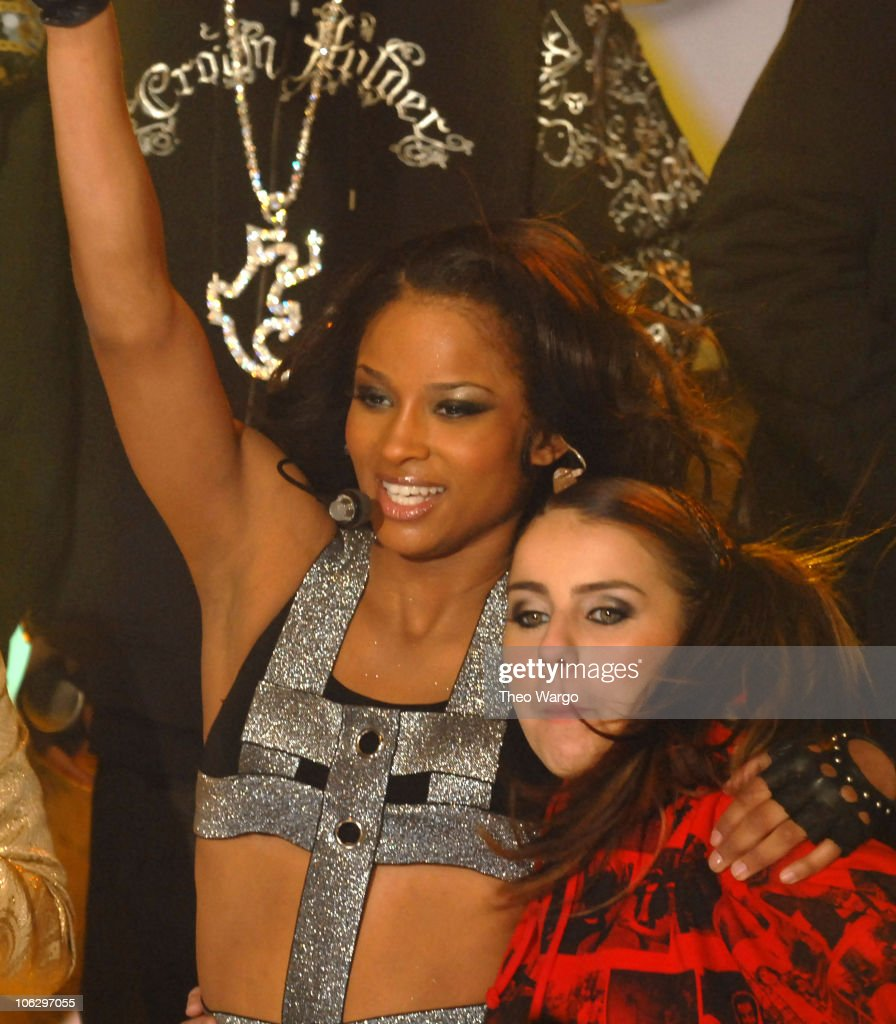 Ciara and Lady Sovereign during MTV Goes Gold: New Year's Eve 2007 Live at MTV's Times Square Studios at MTV Studios in New York City, New York, United States.