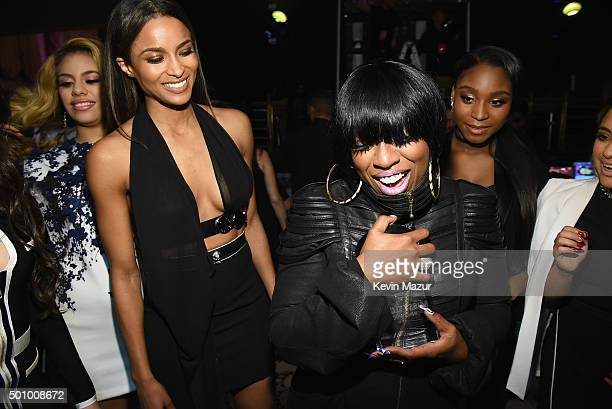 Ciara and Missy Elliott attend Billboard Women In Music 2015 on Lifetime at Cipriani 42nd Street on December 11 2015 in New York City