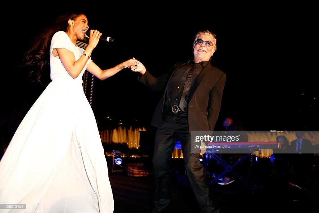 Ciara and Roberto Cavalli at the Gala Event during the Vogue Fashion Dubai Experience on October 31, 2014 in Dubai, United Arab Emirates.