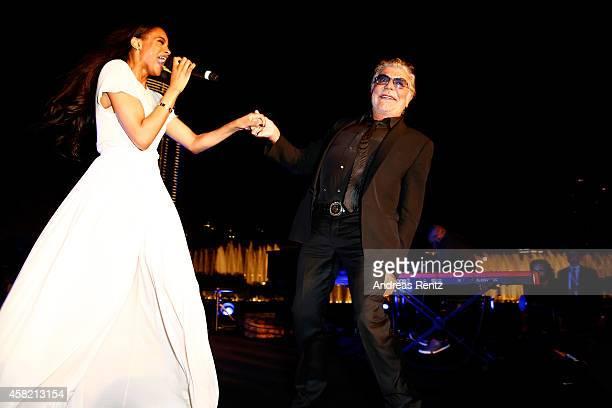 Ciara and Roberto Cavalli at the Gala Event during the Vogue Fashion Dubai Experience on October 31 2014 in Dubai United Arab Emirates