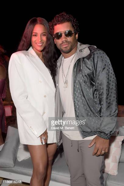 Ciara and Russell Wilson attend as Spotify hosts an evening of music with starstudded performances with Swizz Beatz and Nas during Cannes Lions 2019...