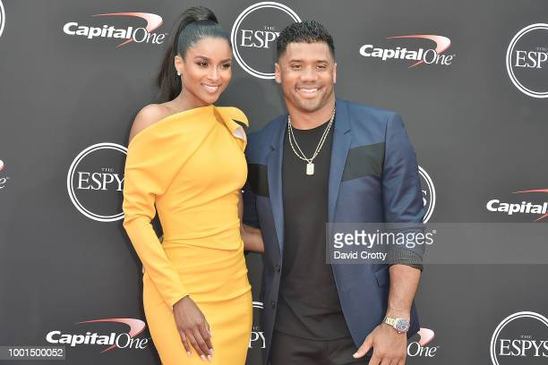 Ciara and Russell Wilson attend The 2018 ESPYS at Microsoft Theater on July 18 2018 in Los Angeles California