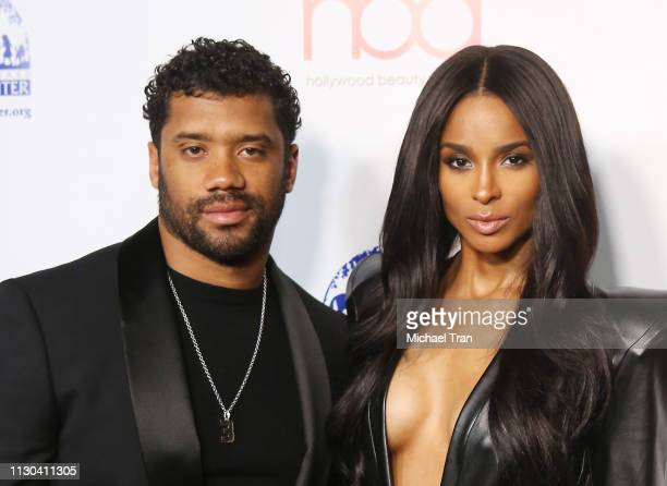 Ciara and Russell Wilson attend the 2019 Hollywood Beauty Awards held at Avalon Hollywood on February 17 2019 in Los Angeles California