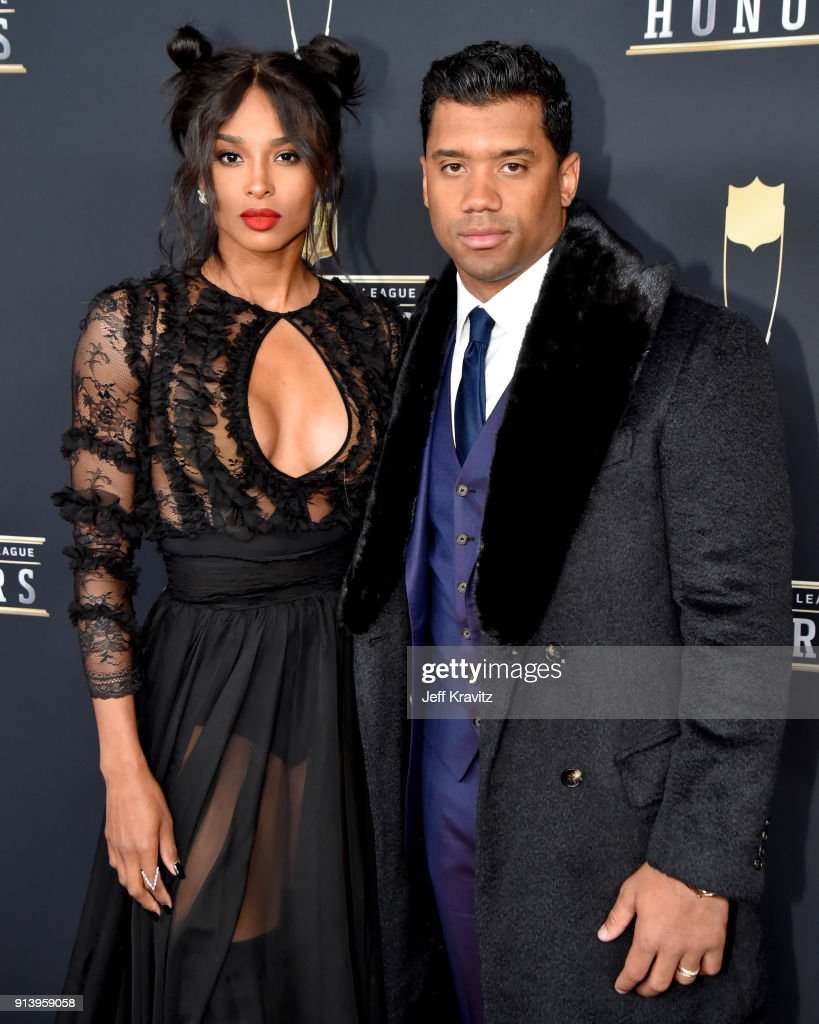 Ciara and Russell Wilson attend the NFL Honors at University of Minnesota on February 3, 2018 in Minneapolis, Minnesota.