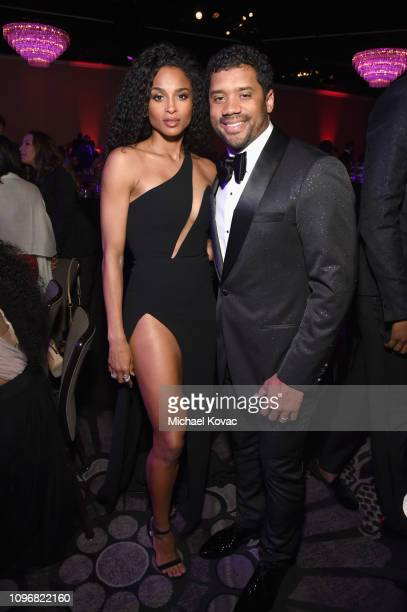 Ciara and Russell Wilson attend the PreGRAMMY Gala and GRAMMY Salute to Industry Icons Honoring Clarence Avant at The Beverly Hilton Hotel on...